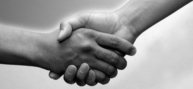 black-and-white-shake-hands