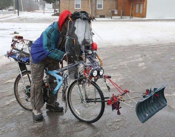 Bike-plow